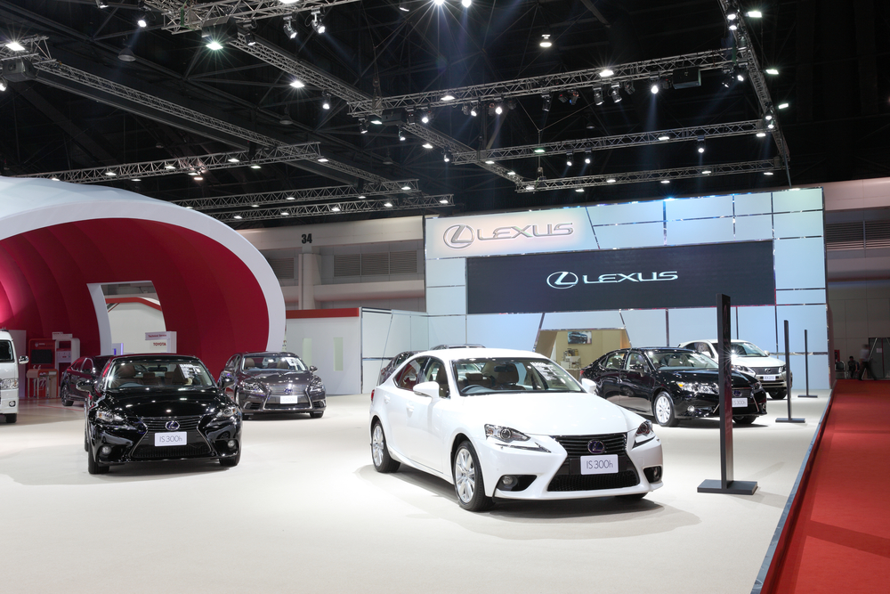BANGKOK - MARCH 25: Showroom of Lexus car  at The 36 th Bangkok
