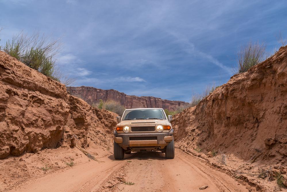 Off road vehicle White Rim Road Utah