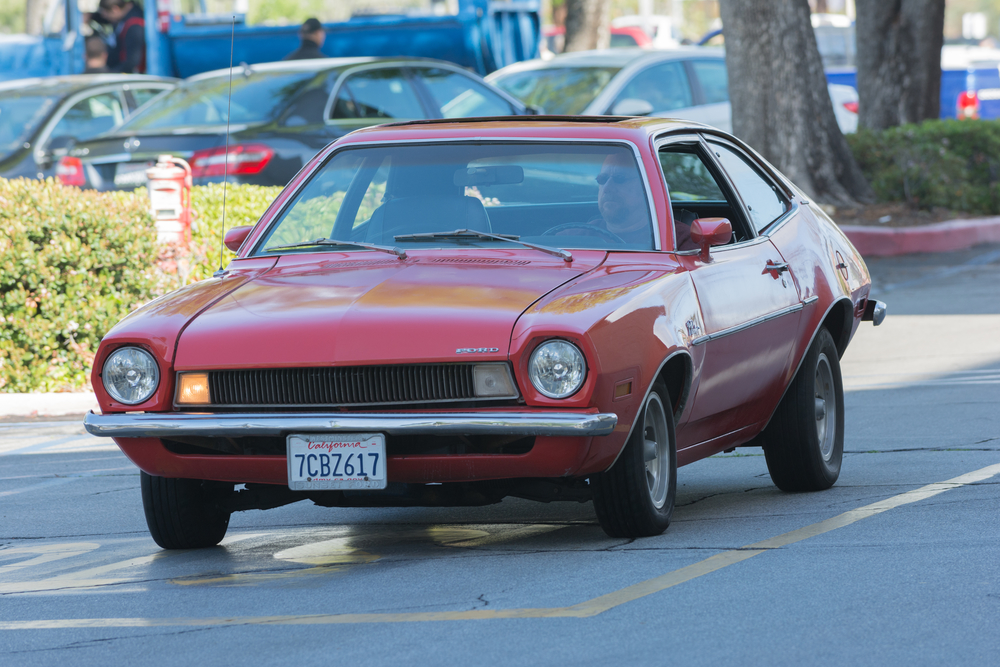 Ford Pinto on display at the Supercar Sunday car show.
