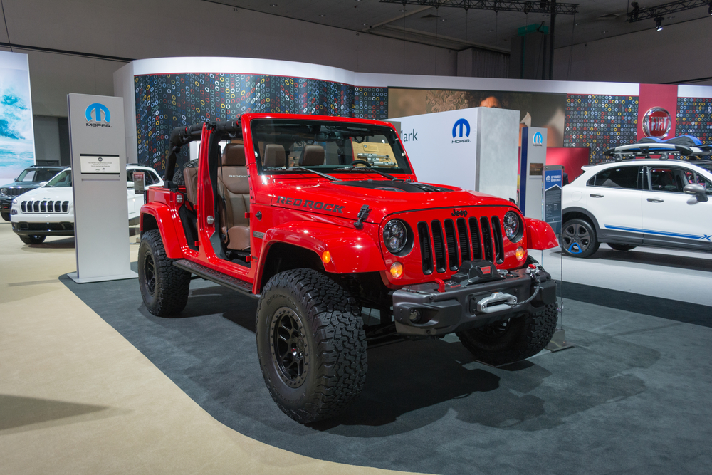 Los Angeles, USA - November 19, 2015: Jeep Red Rock on display during the 2015 Los Angeles Auto Show.