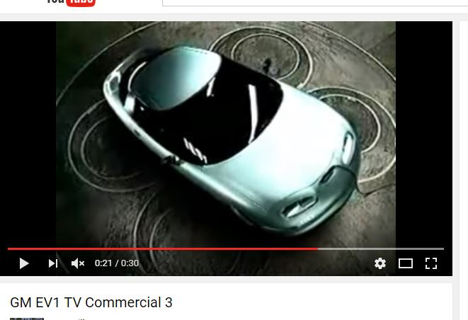 GM EV1 Commercial screenshot youtube