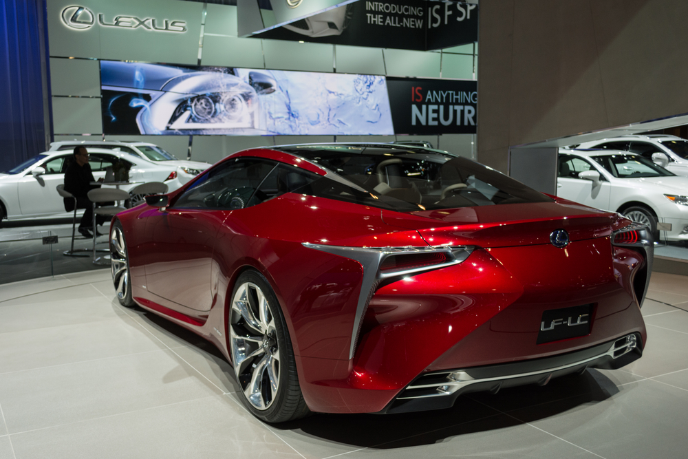Lexus LF-LC display at the LA Auto Show.
