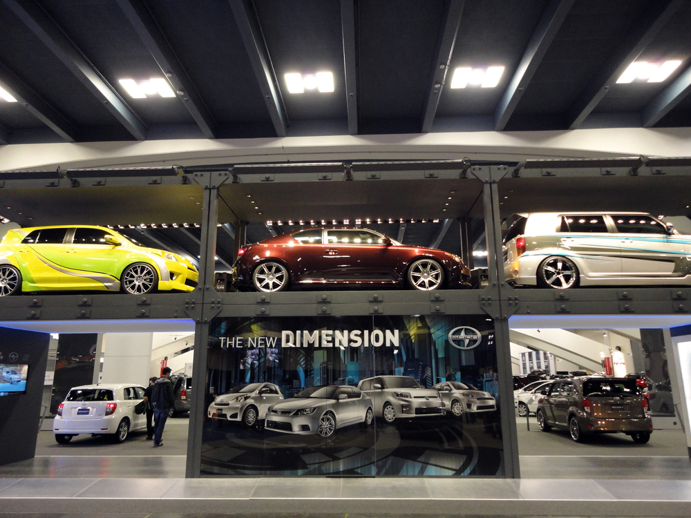 Two Floor display of Scion Cars