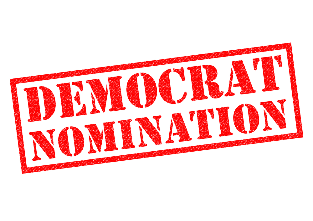 DEMOCRAT NOMINATION over a white background.