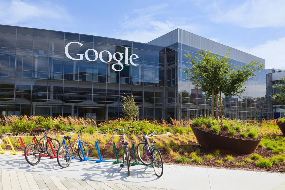 Exterior view of a Google headquarters building.