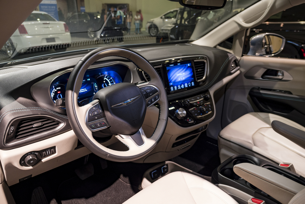 Chrysler Pacifica on display during the Miami International Auto Show at the Miami Beach Convention Center.
