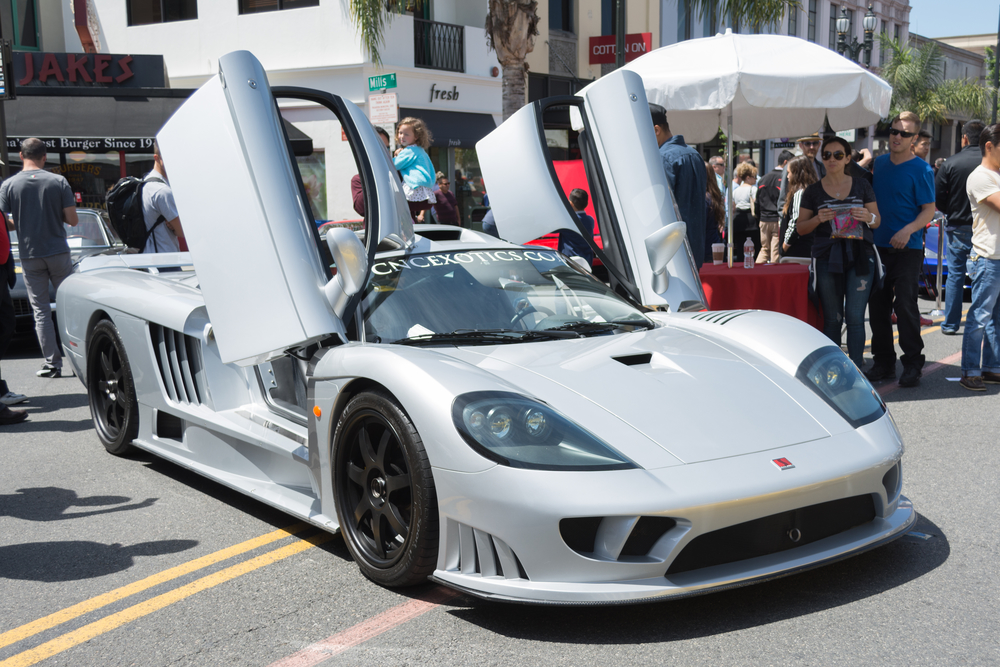 Saleen S7 car on display