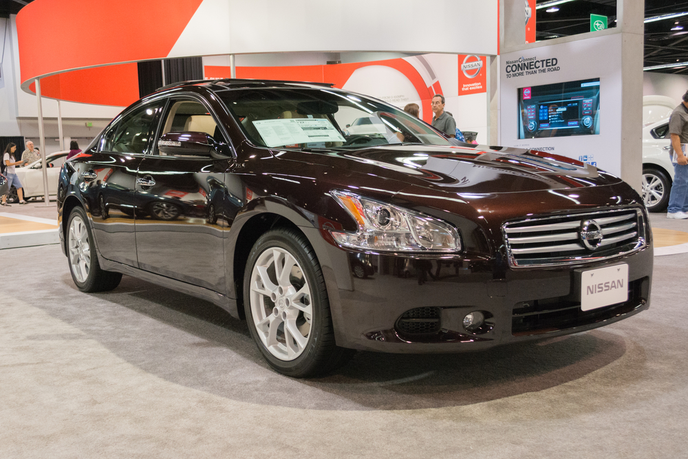 Anaheim, CA - October 3, 2014: 2015 Nissan Maxima at the Orange County International Auto Show in Anaheim, CA.