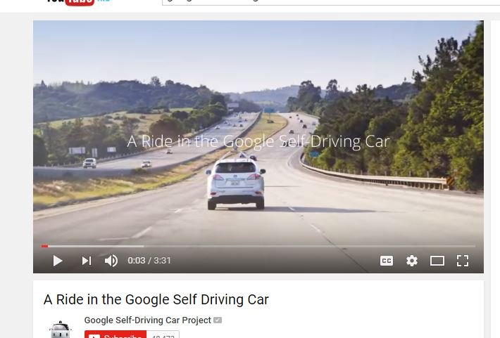 Google testing self driving Lexus vehicles.