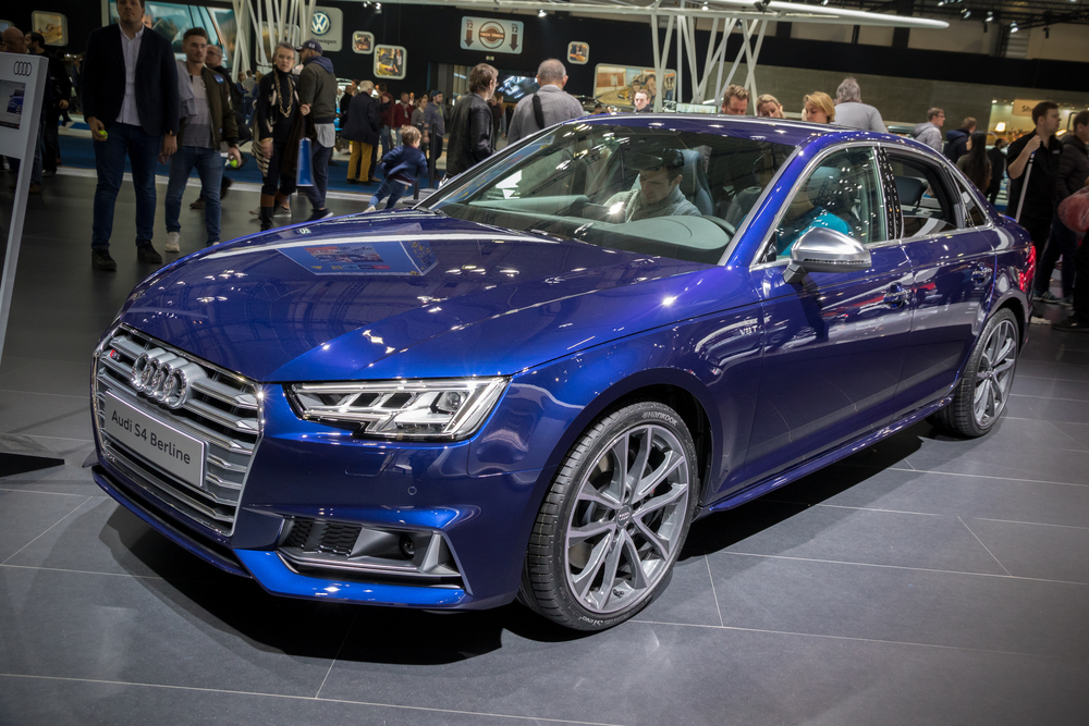 BRUSSELS - JAN 19, 2017: Audi S4 Berline car presented at the Brussels Motor Show.