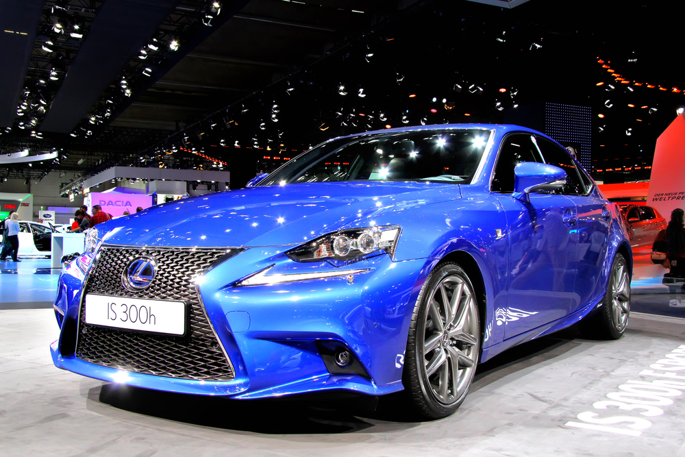 FRANKFURT AM MAIN, GERMANY - SEPTEMBER 14: Japanese car Lexus IS300h exhibited at the annual IAA (Internationale Automobil Ausstellung) on September 14, 2013 in Frankfurt am Main, Germany.