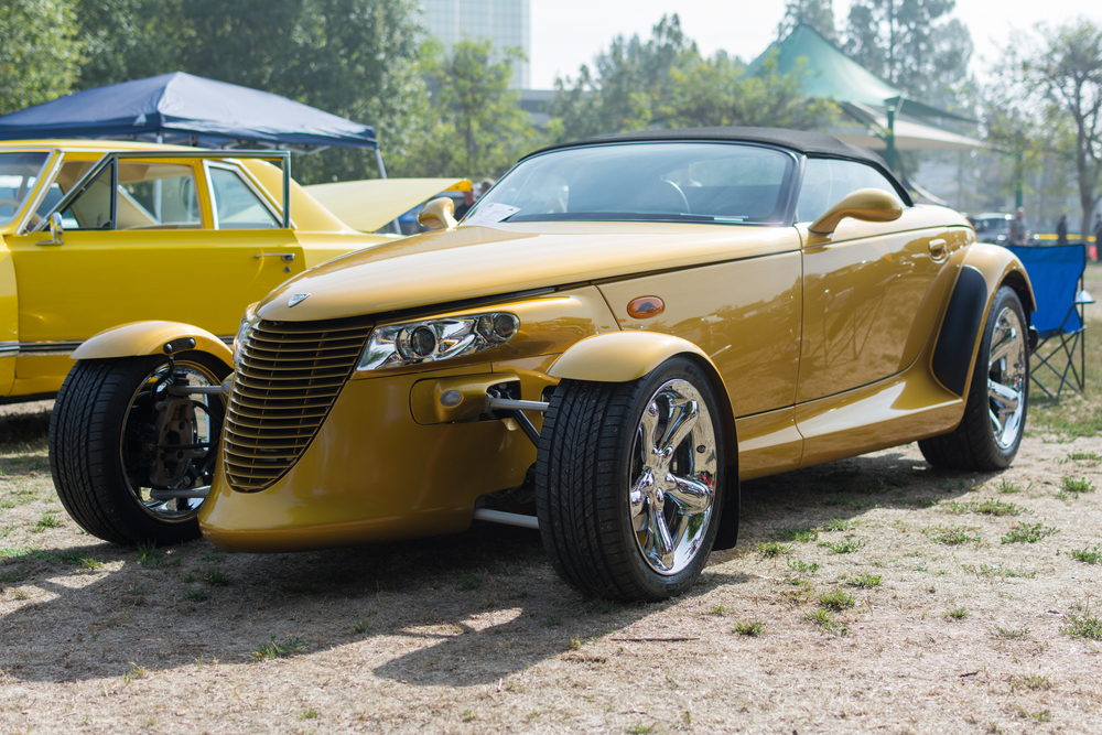 Chrysler Prowler car on display