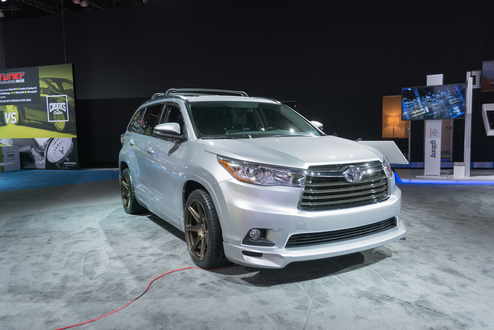 Los Angeles, USA - November 19, 2015: Toyota Highlander TRD on display during the 2015 Los Angeles Auto Show.