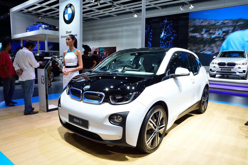 BANGKOK - March 26 : New BMW i3 eDrive on DisPlay at 36th Bangko