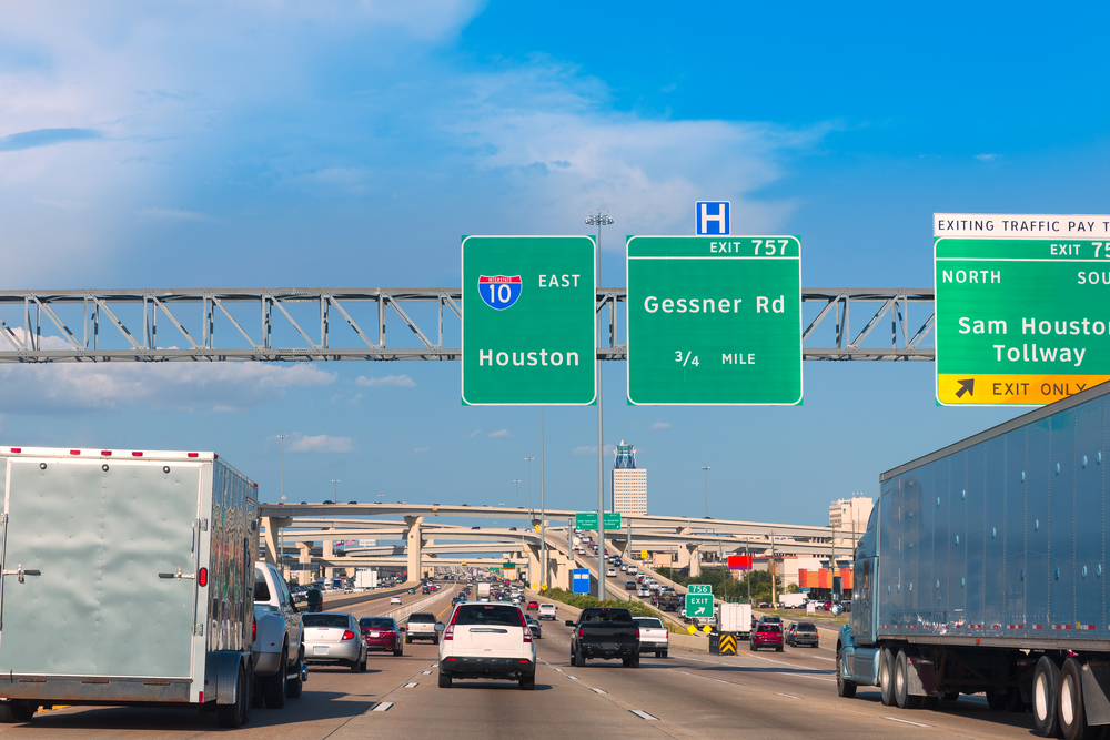 Houston Katy Freeway Fwy in Texas USA