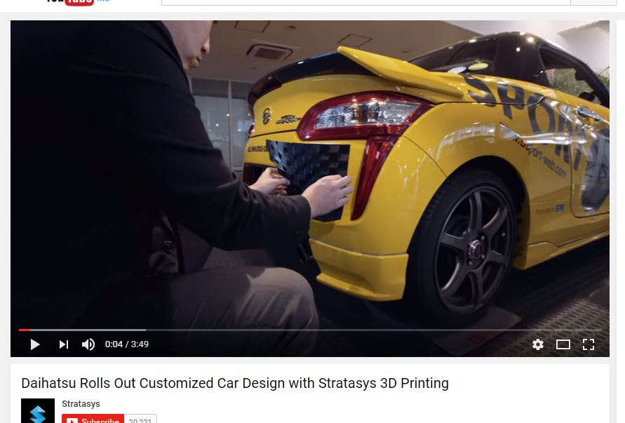 Daihatsu and Stratasys 3D printing car skin