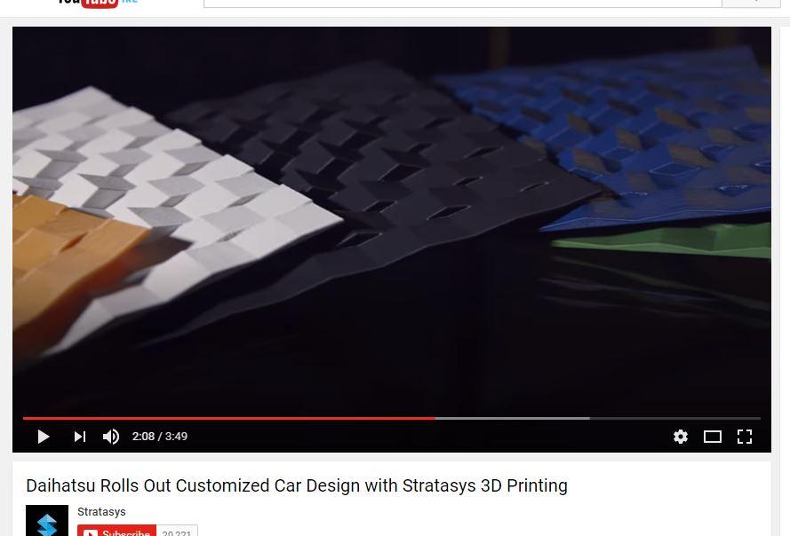 Daihatsu and Stratasys 3D printing car skin colors