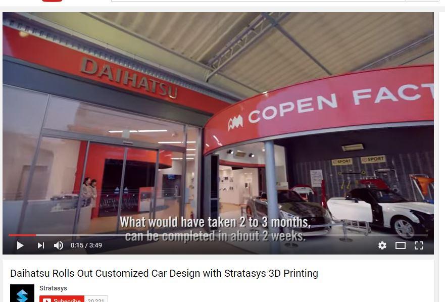 Daihatsu and Stratasys 3D printing car skin shop
