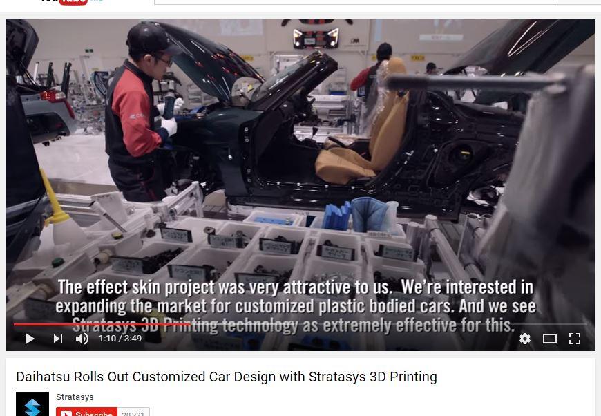 Daihatsu and Stratasys 3D printing car skin customize