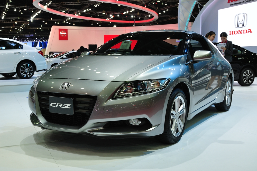 NONTHABURI - March 25: New Honda CR-Z on display at The 35th Bangkok International Motor show on March 25, 2014 in Nonthaburi, Thailand.