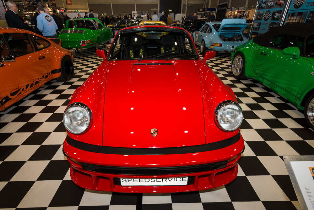 Sports car Porsche 911 3.0 SC Coupe, 1980. International Exhibition InterClassics & Topmobiel 2015