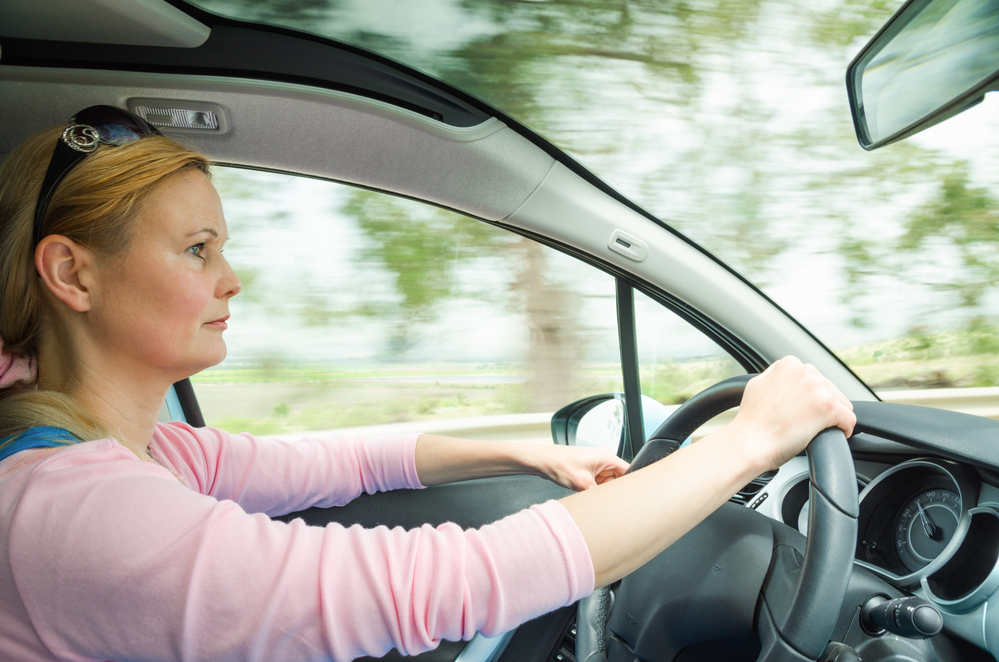 woman-safely-and-slowly-driving
