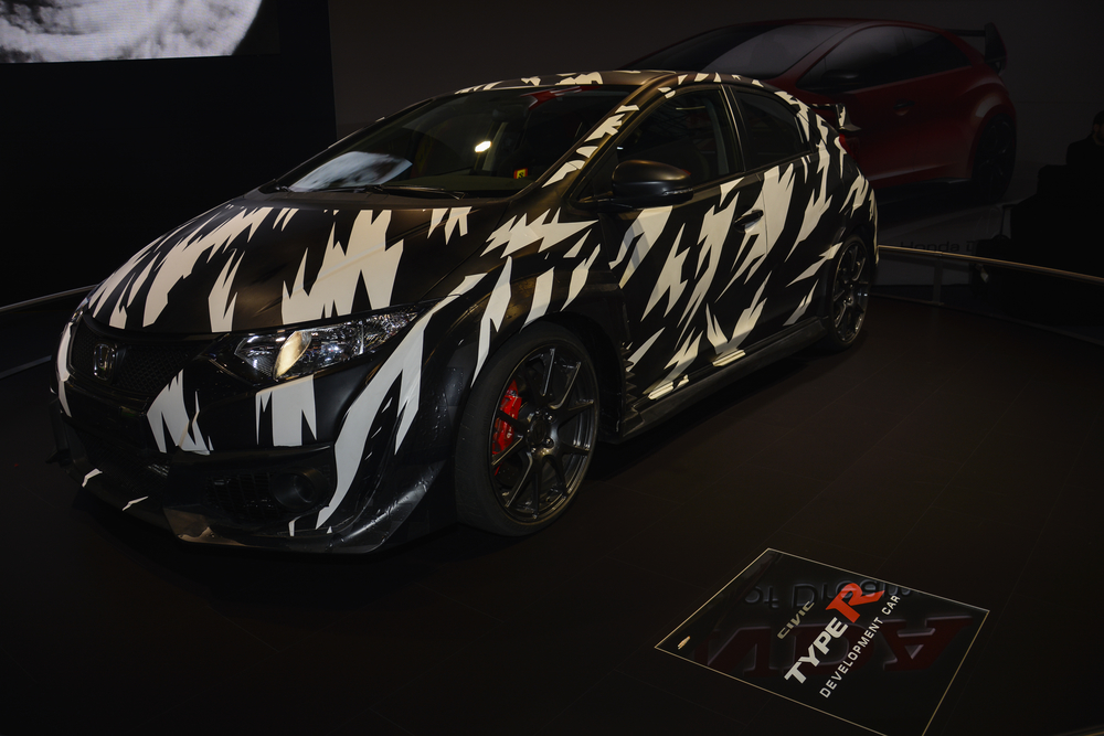 Honda Civic Type R development car on display during the Geneva Motor Show, Geneva, Switzerland
