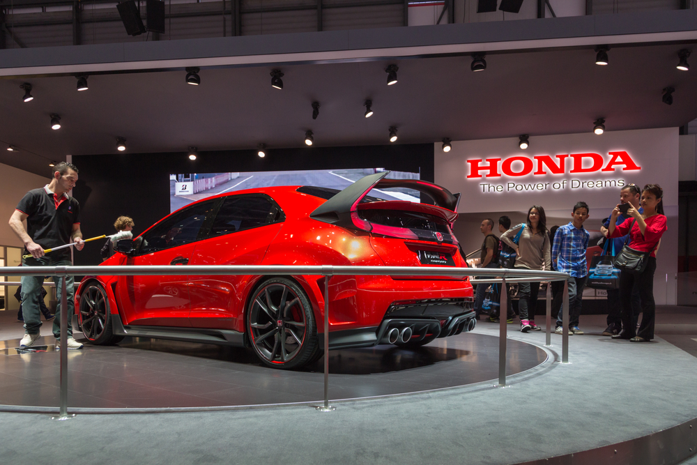 HONDA Civic Type R displayed at the 84th Geneva Motor Show, in Switzerland
