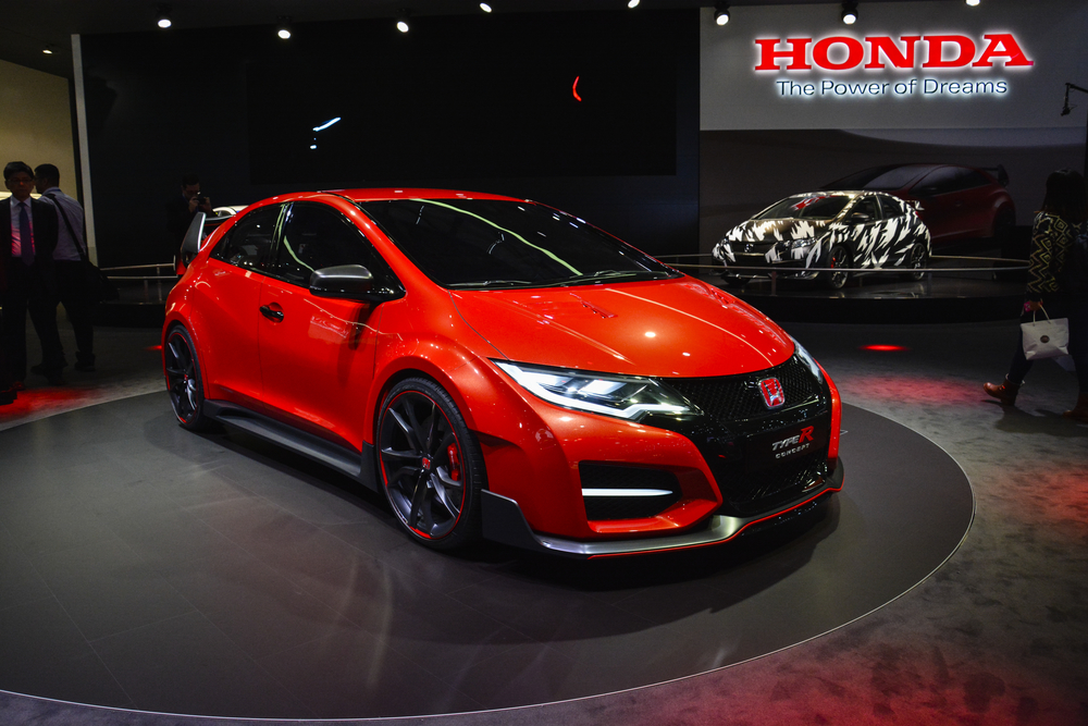 Honda Civic Type R concept car on display during the Geneva Motor Show, Geneva, Switzerland