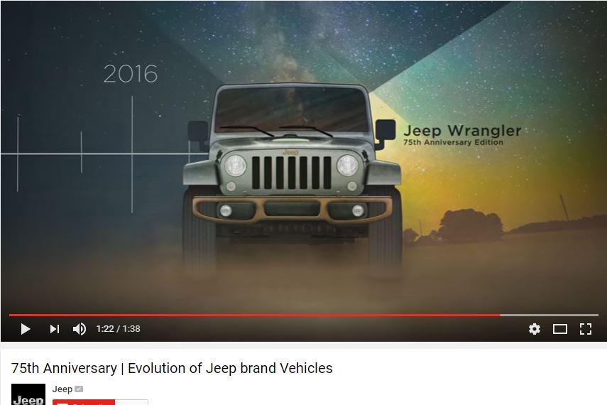 jeep 75th anniversary edition wrangler.