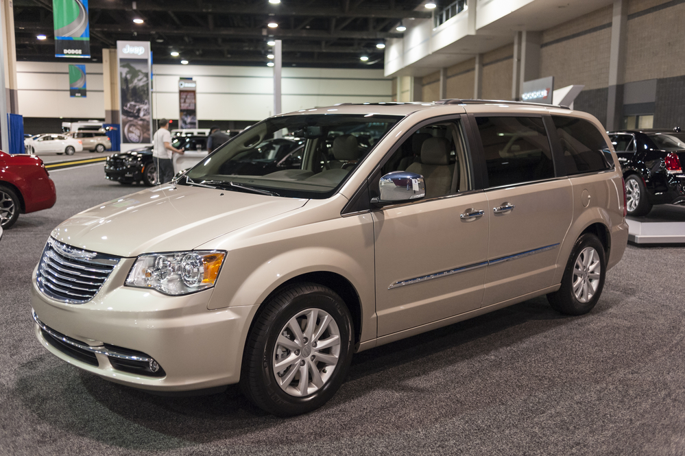 CHARLOTTE, NC, USA - November 11, 2015: Chrysler Town and Country mini van on display during the 2015 Charlotte International Auto Show at the Charlotte Convention Center in downtown Charlotte.