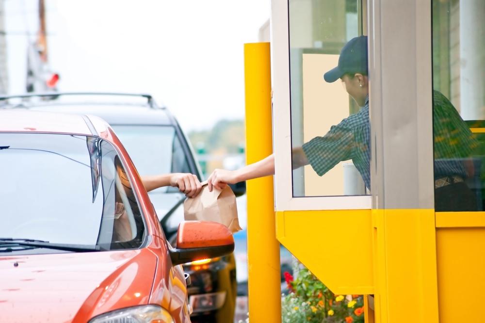 Drive thru fast food restaurant.