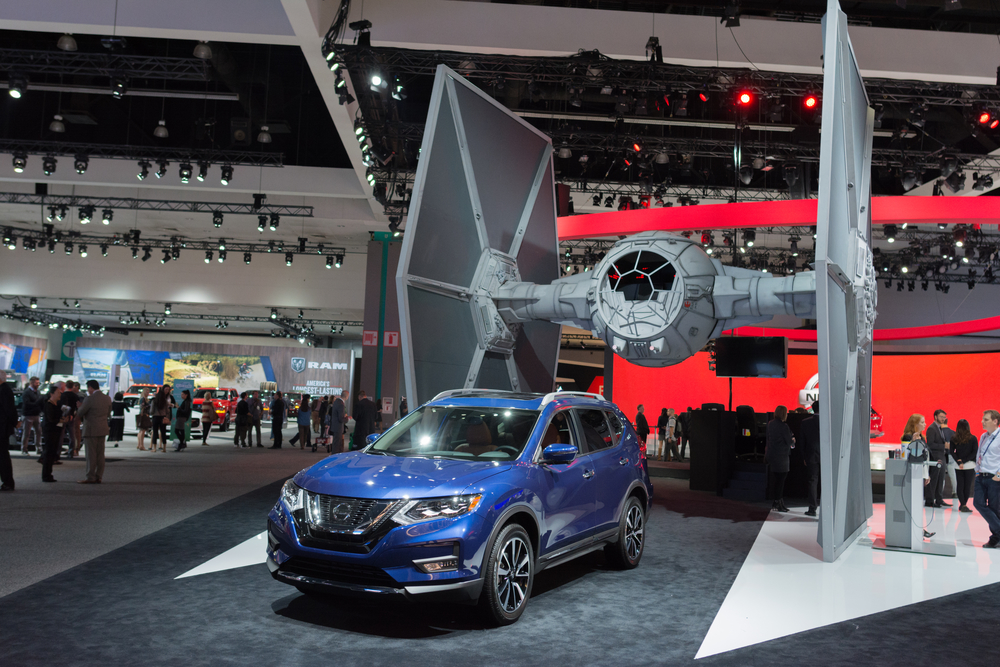 Los Angeles, USA - November 16, 2016: Nissan Rogue One Star Wars on display during the Los Angeles Auto Show.