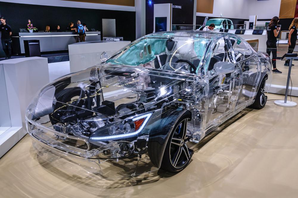Tesla Model S concept prototype presented at IAA International Motor Show on September 20, 2015 in Frankfurt, Germany