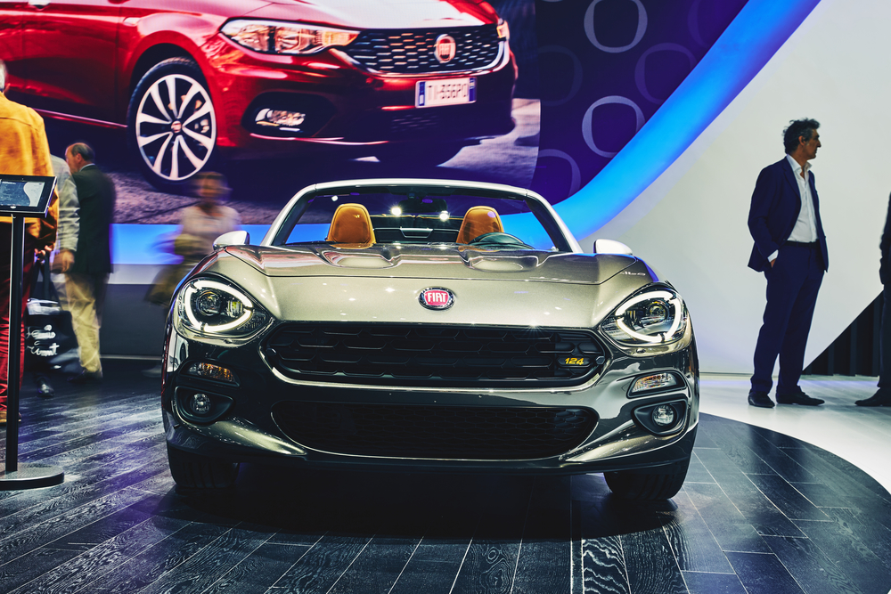 Fiat Spider presented on the Paris Motor Show in the Porte de Versailles