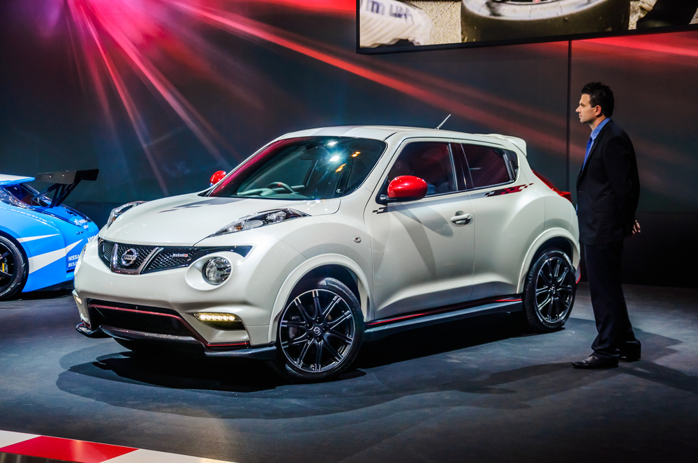 NISSAN JUKE YF15 presented as world premiere at the 16th MIAS (Moscow International Automobile Salon) on August 30, 2012 in Moscow, Russia