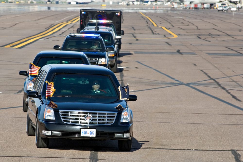 PHOENIX, AZ Ð MAY 13: President Barack Obama's limousine arrives at Phoenix Sky Harbor Airport on May 13, 2009 in Phoenix, AZ.