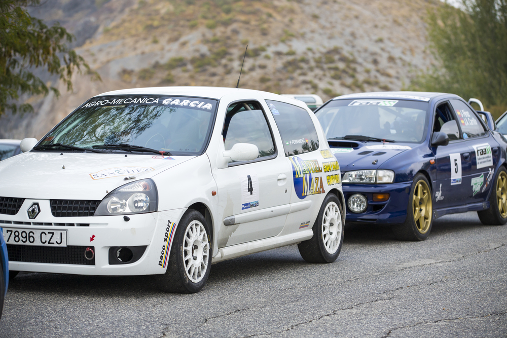 "GRANADA, SPAIN - SEP 27: Unknown Racer in the ""Primer Rally-Crono el Purche"" , on Sep 27, 2014 in Granada, Spain."