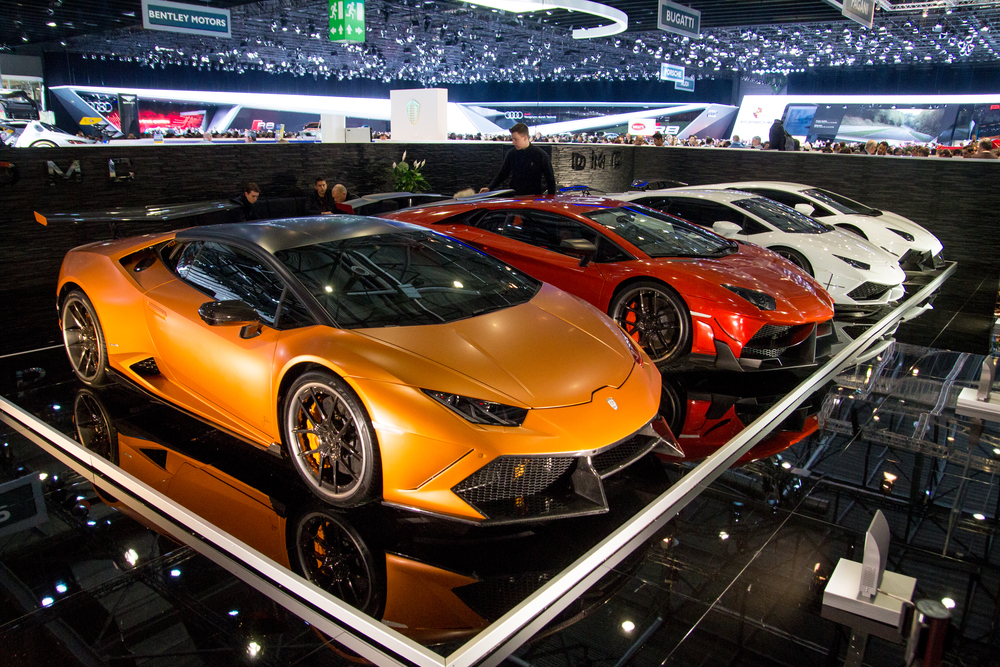 Geneva, Switzerland - March 14, 2015: DMC Huracan on display during Geneva Motor Show 2015