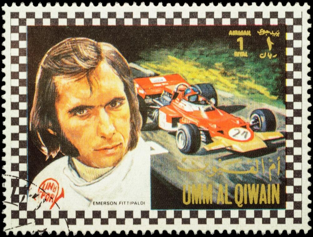 Brazilian Racing Driver Emerson Fittipaldi Stamp