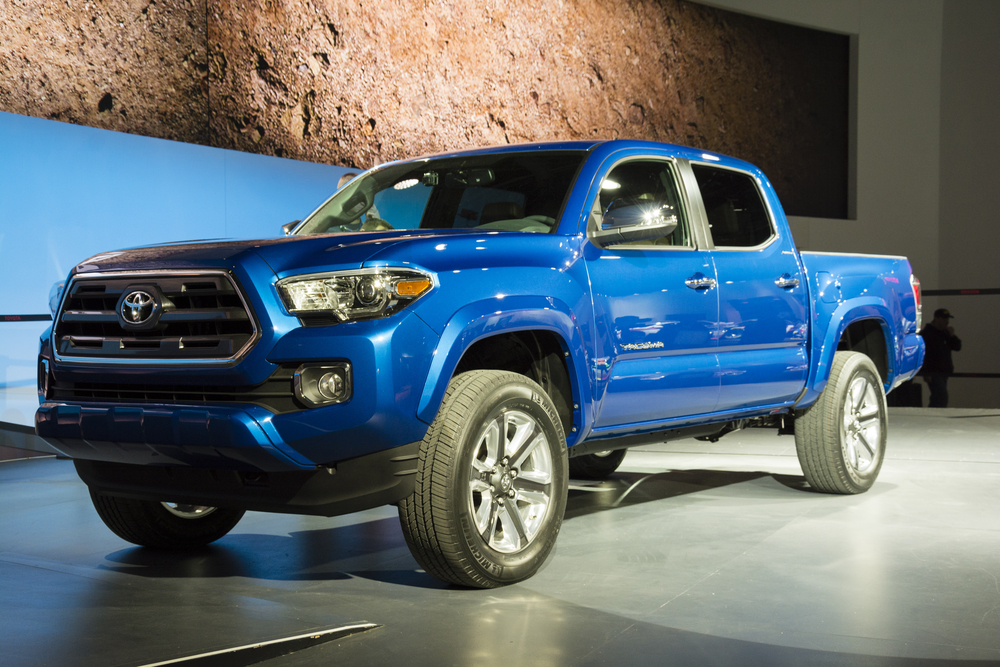 Toyota Tacoma on display during the 2015 Detroit International Auto Show at the COBO Center in downtown Detroit.
