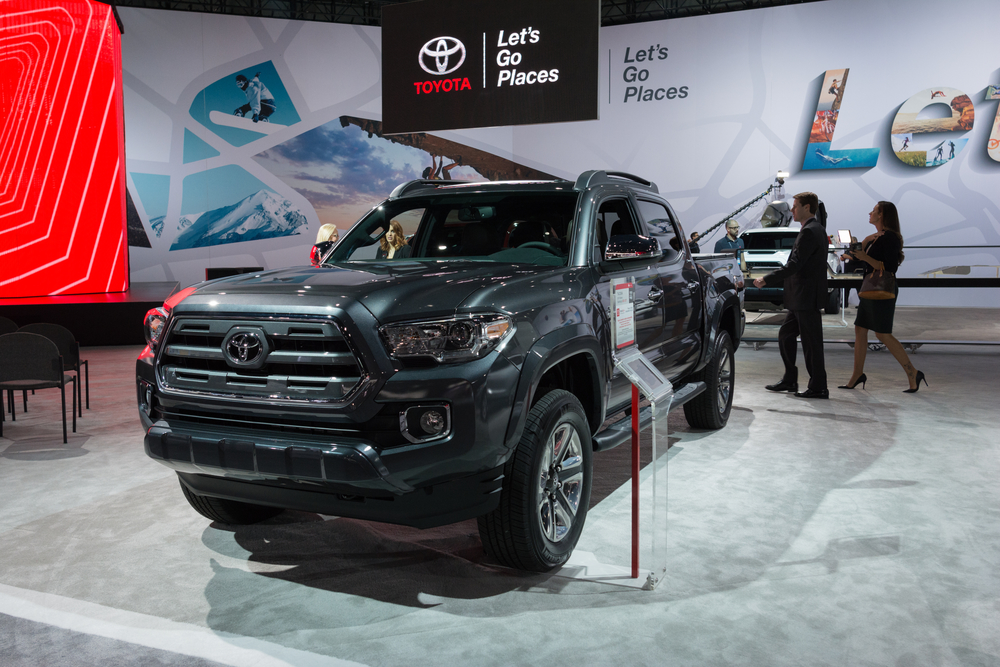 Toyota Tacoma on display during the Los Angeles Auto Show.