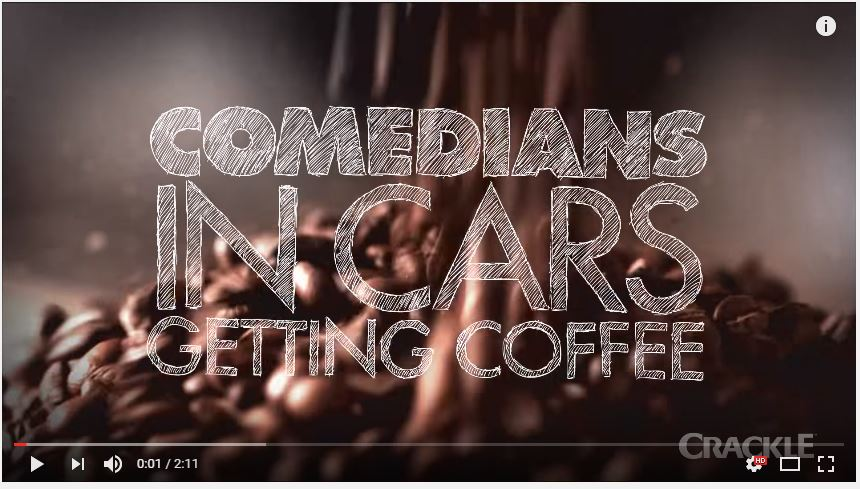 comedians in cars drinking coffee