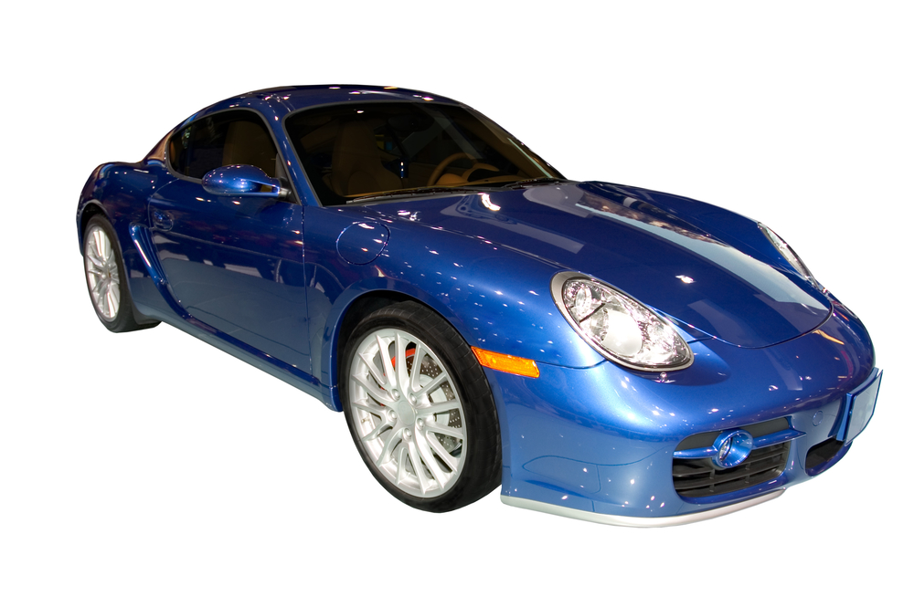 Isolated photo of the Porsche Carrera . Seen at the 2006 Detroit auto show. Many more car photos available in my gallery.