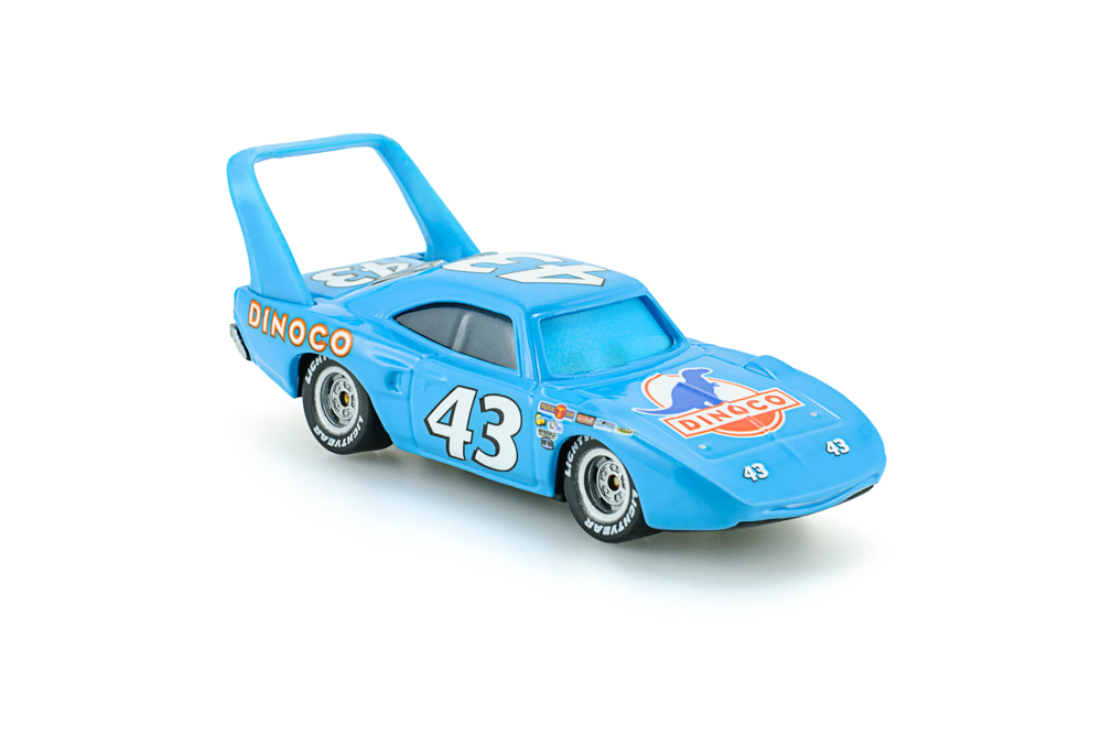 Strip The King Weathers toy car a protagonist of the Disney Pixar feature film Cars. A diecast cars collcection from Mattel inc.
