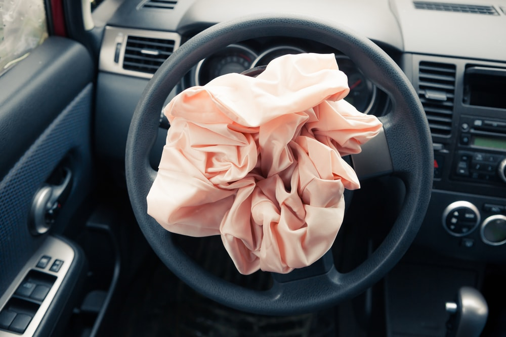 deployed takata airbag