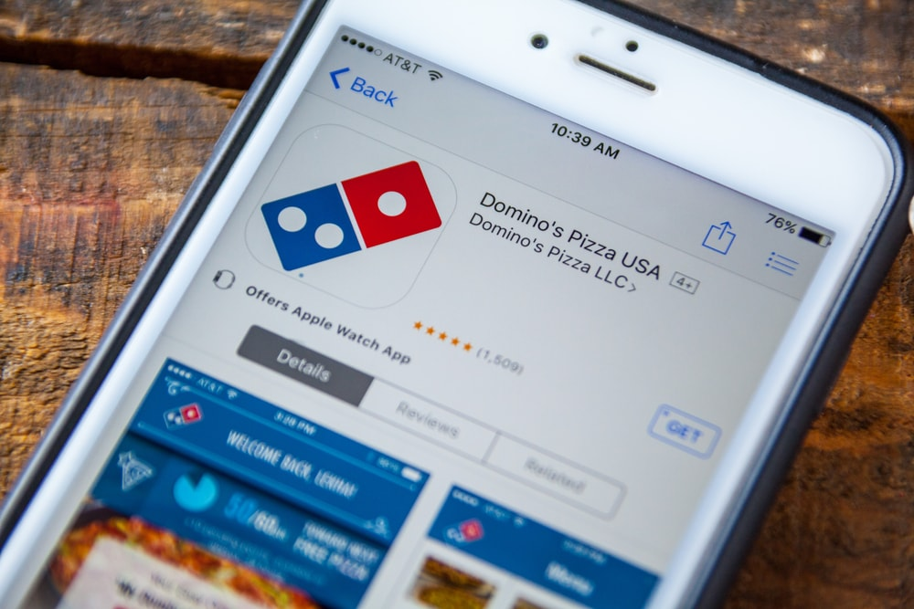 domino's pizza delivery app