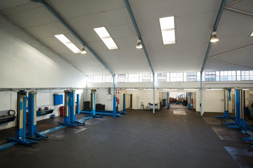 empty car repair garage