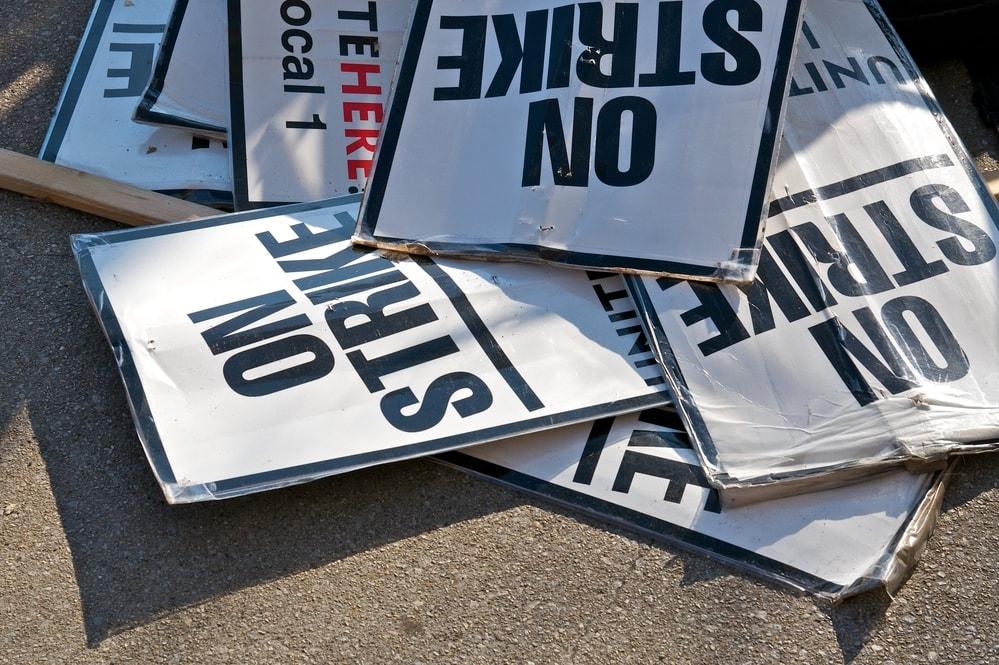 end of labor strike