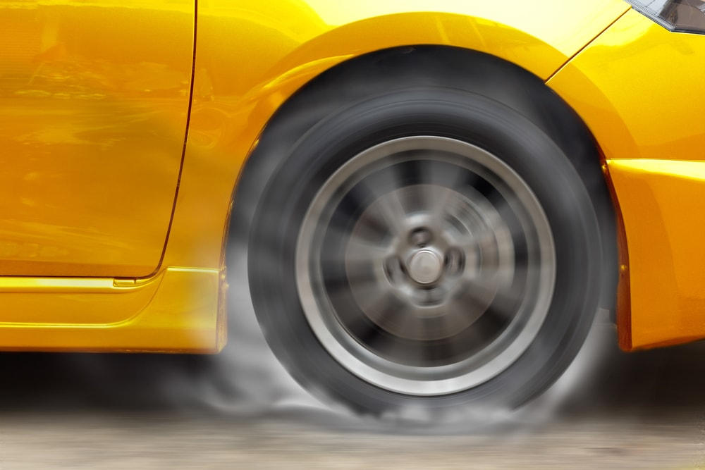sport tire burnout